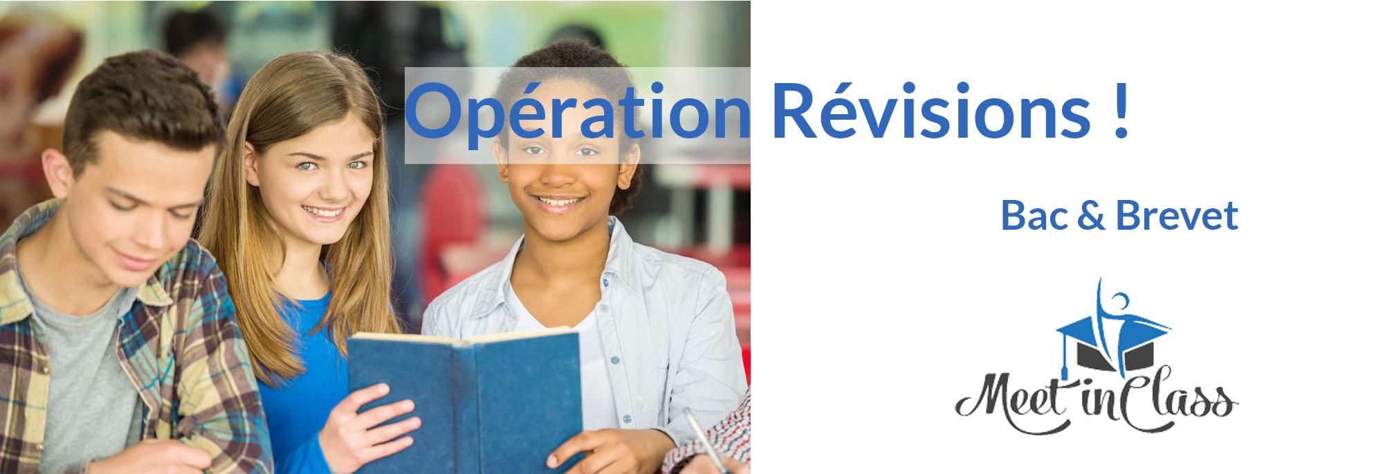 Opération Révisions du bac et du brevet !