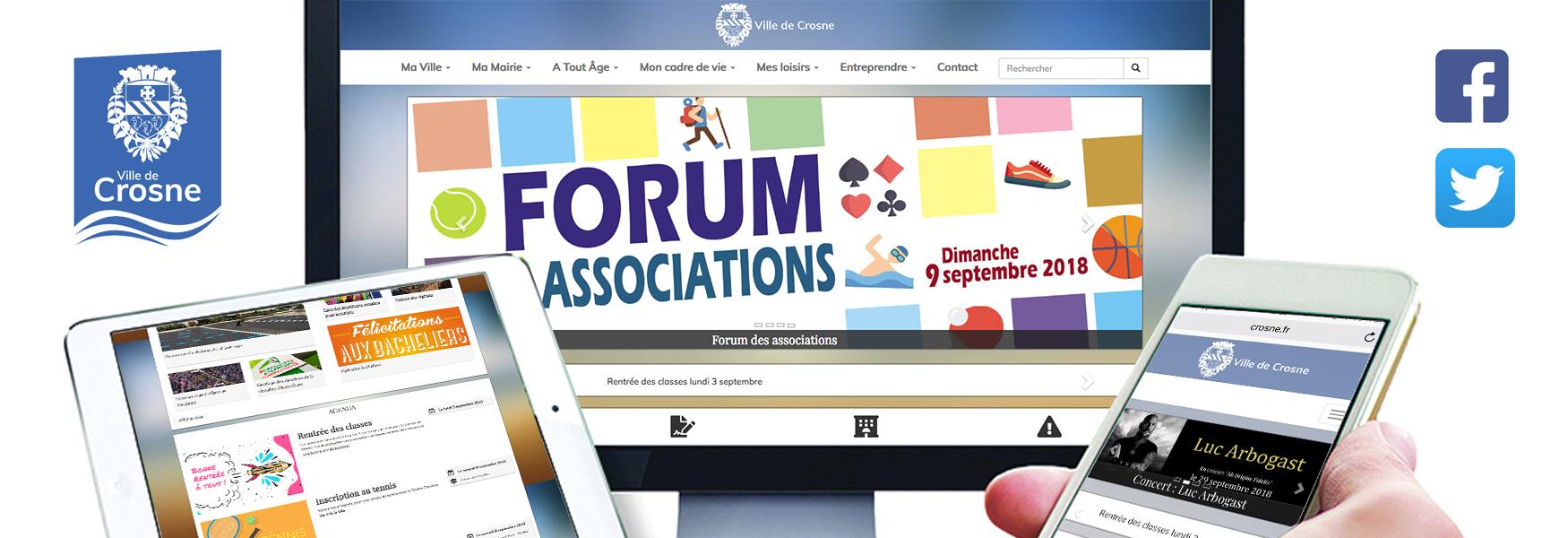 Le nouveau site crosne.fr