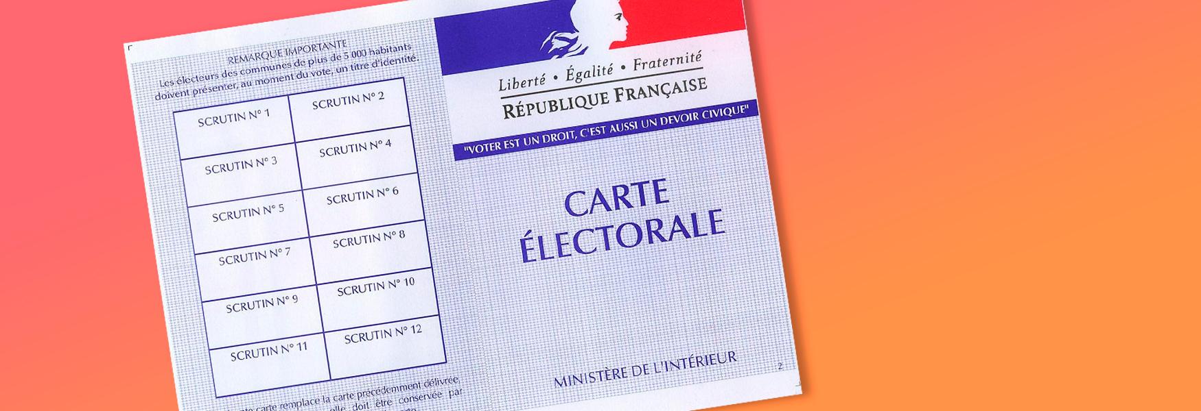 Nouveauté : vérifiez votre inscription électorale